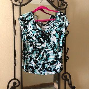 BeBe size L multi color blouse